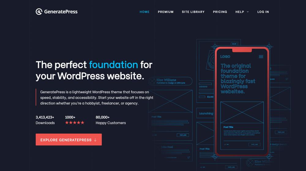 GeneratePress - WordPress Affiliate Theme