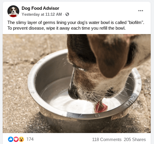 dogfoodadvisor facebook post