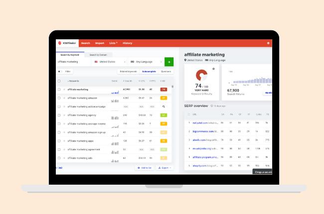 mangools - affiliate marketing tools