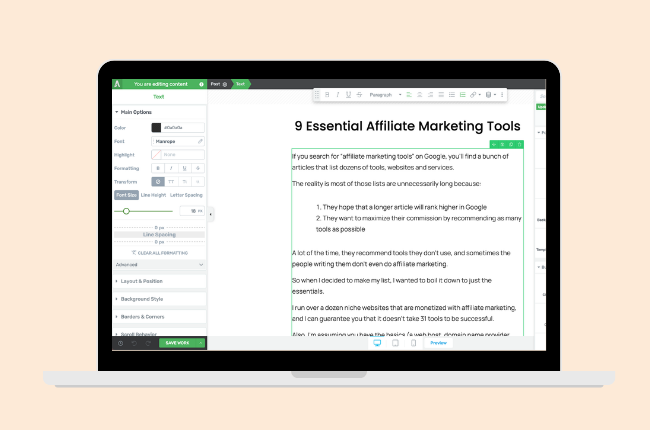 thrive themes - affiliate marketing tools