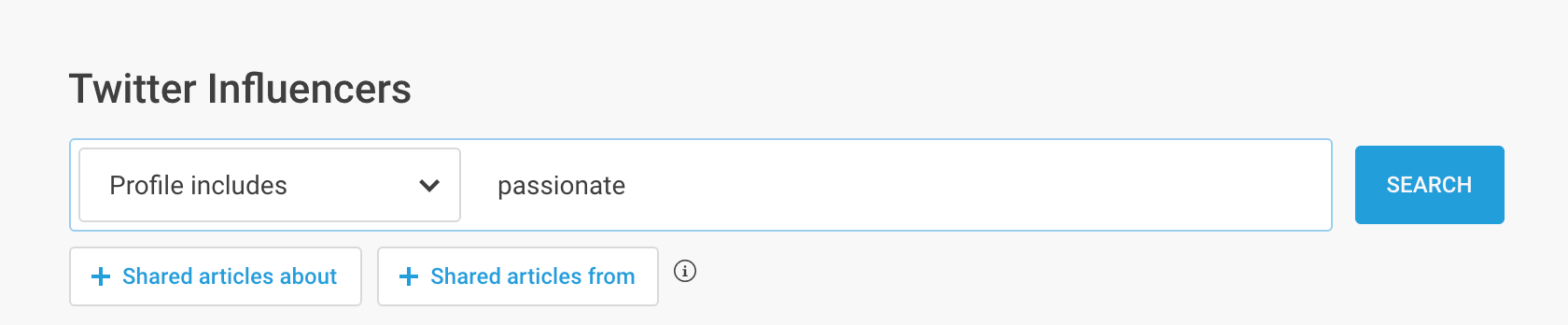 twitter profile search in buzzsumo